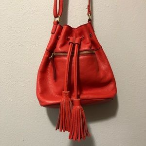Fossil Red Crossbody purse